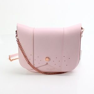 Ted Baker Pink Leather Barkley Crossbody Purse